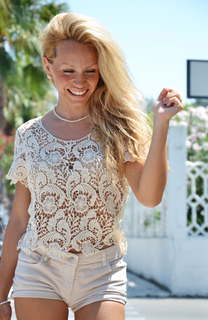 Crochet top summer trend 2013 outfit fashion blogger, Etro bags, Zara pumps – It-Girl by Eleonora Petrella