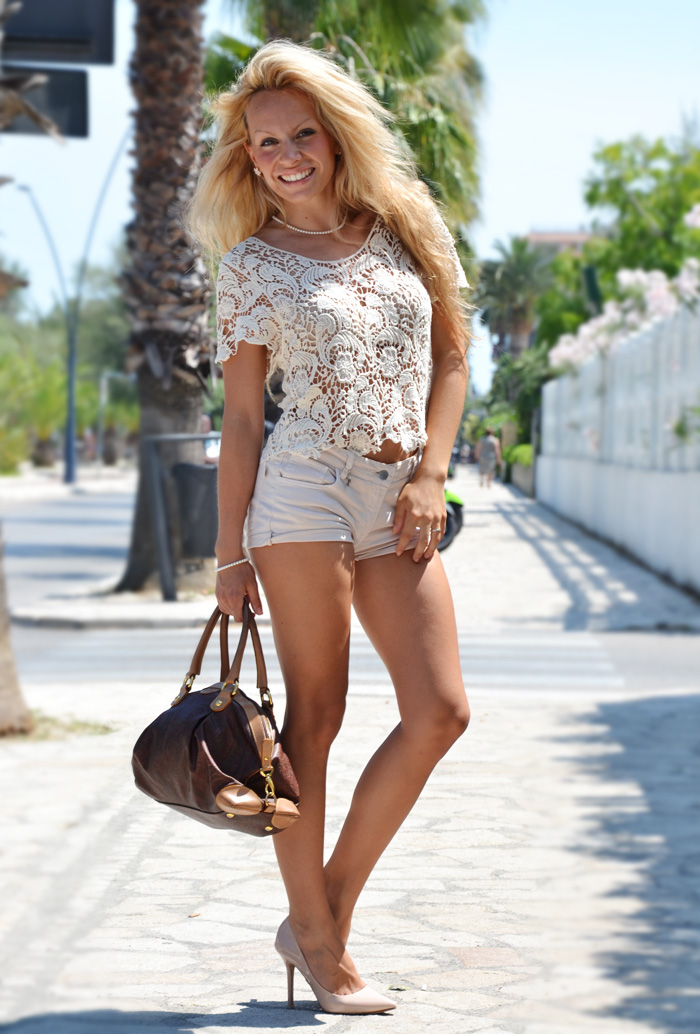Crochet top summer trend 2013 outfit fashion blogger, Etro bags, Zara pumps – It-Girl by Eleonora Petrella