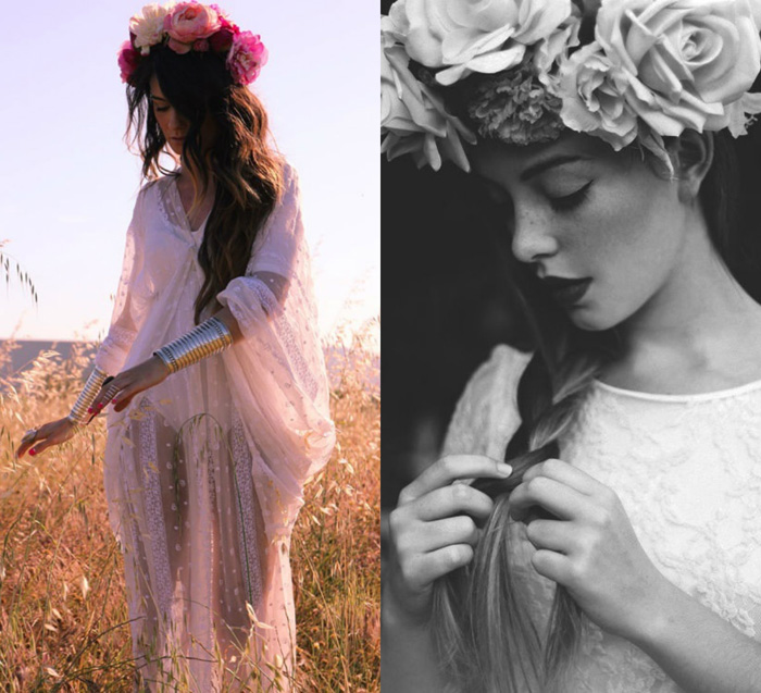 Lana Del Rey inspired flower crown floral headband summer 2013 trend – fashion blogger It-Girl by Eleonora Petrella
