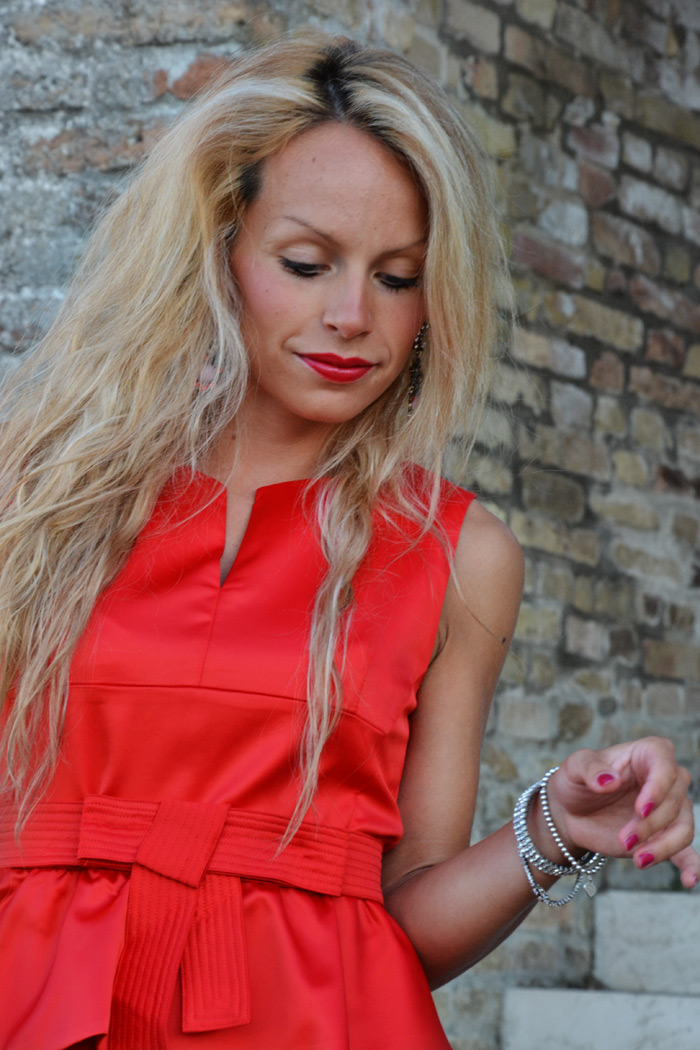 Choies sexy red dress, Prada bag bauletto - outfit summer 2013 italian fashion blogger It-Girl 2013
