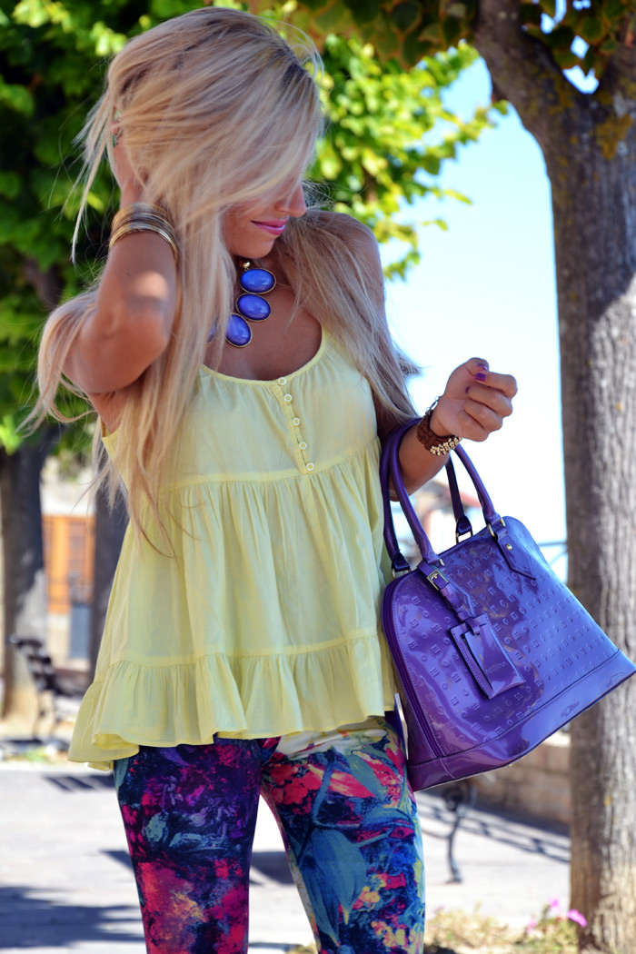 Romwe flower print leggings - Aldo wedges and heels - Arcadia bag - italian fashion blogger It-Girl by Eleonora Petrella