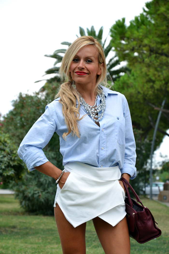 Zara skort trend 2013 outfit fashion blogger - It-Girl by Eleonora Petrella