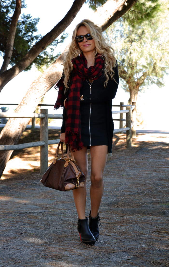Sorel rain boots Medina outfit fashion blogger - Zara check scarf - It-Girl by Eleonora Petrella
