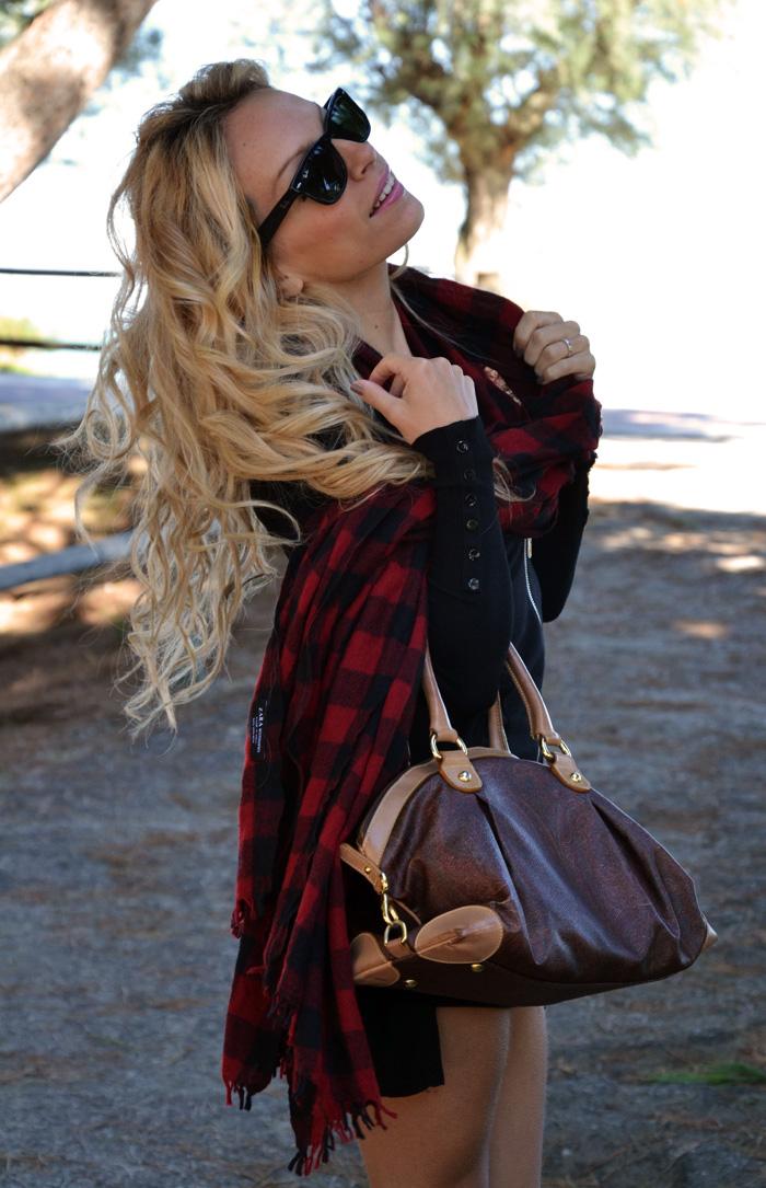 Sorel rain boots Medina outfit fashion blogger - Zara check scarf - It-Girl by Eleonora Petrella