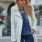 <!--:it-->White Coat on a Denim look<!--:-->