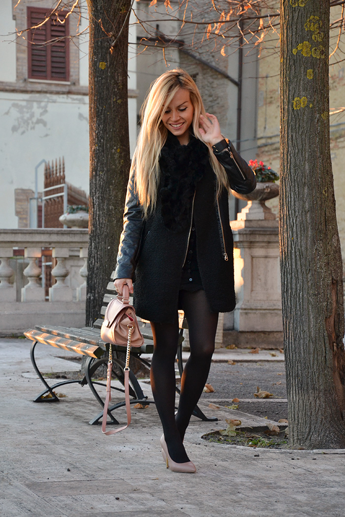 Cappotto nero, black Romwe coat, outfit total black, Steve Madden décolleté, Zalando oroscopo della moda – It-Girl by Eleonora Petrella