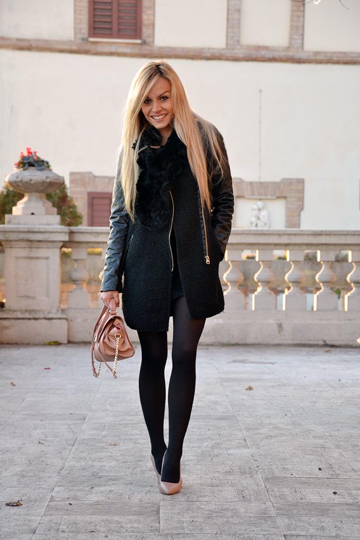 Cappotto nero, black Romwe coat, outfit total black, Steve Madden décolleté, Zalando oroscopo della moda – It-Girl by Eleonora Petrella