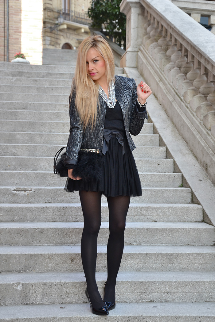 Elegant and chic outfit fall 2014 , tutu tulle skirt, gonna da ballerina - italian fashion blogger It-Girl by Eleonora Petrella