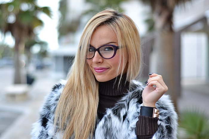 Mixed faux fur coat for Zalando pellicce