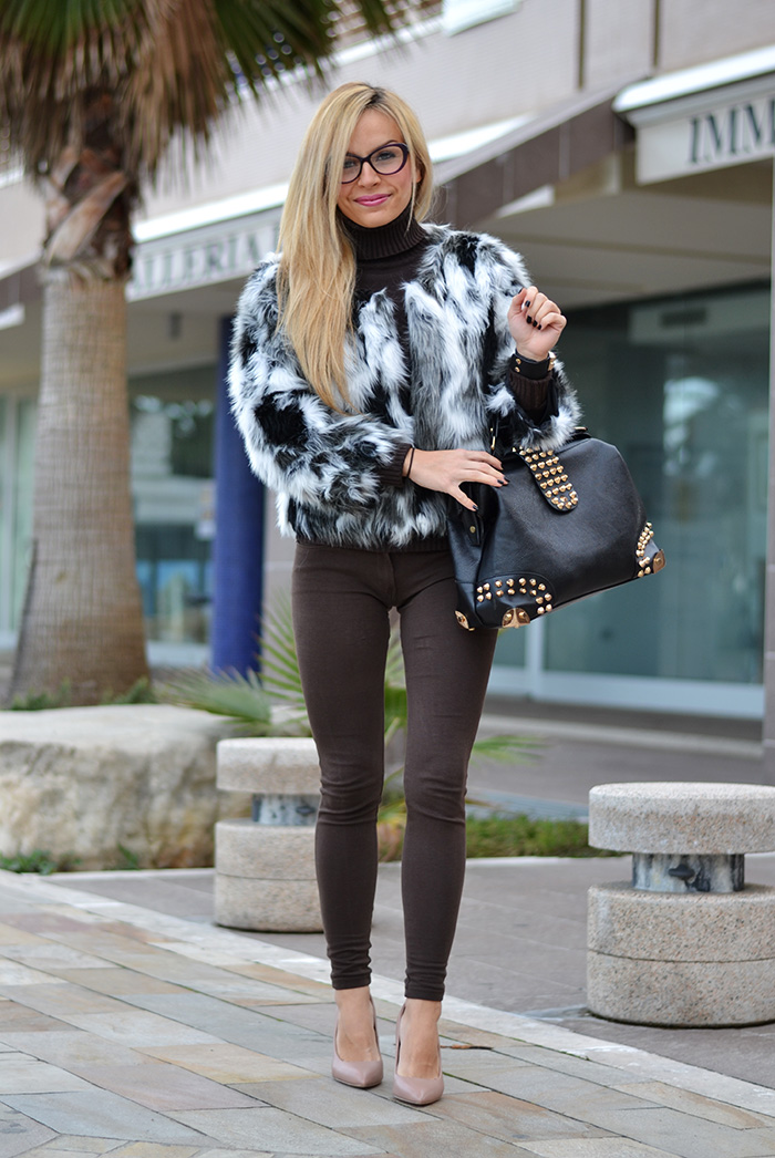 Choies faux fur coat, Hype Glass occhiali, Zalando Steve Madden Leena heels – outfit winter 2014 italian fashion blogger It-Girl by Eleonora Petrella