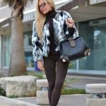 <!--:it-->Mixed faux fur coat<!--:-->