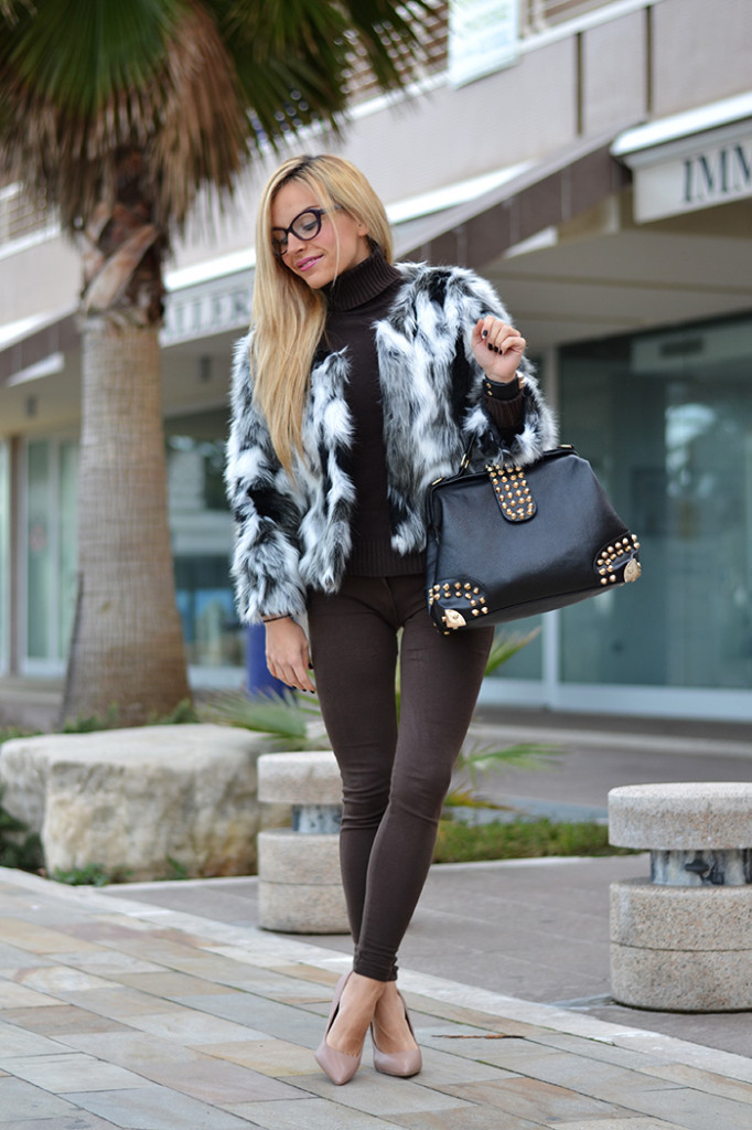 <!--:it-->Mixed faux fur coat<!--:-->