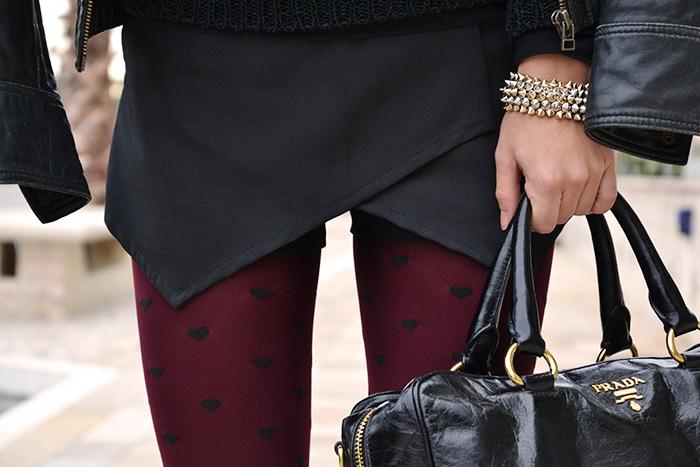 Zara Black skort nero, Imperfect Belen fluffy sweater, bauletto Prada bags – outfit Italian fashion blogger winter 2013 It-Girl by Eleonora Petrella