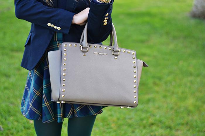 Plaid check tartan skirt, Zara blazer, Chicwish skirt, Selma bag, Biagetti Bologna – Italian fashion blogger It-Girl by Eleonora Petrella
