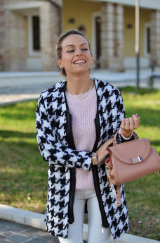 Mesenso pearls shop, cappotto pied de poule coat, fluffy sweater furry maglioncini pelosi inverno 2014 – Italian fashion blogger It-Girl by Eleonora Petrella