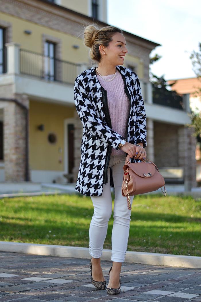 Mesenso pearls shop, cappotto pied de poule coat, fluffy sweater furry maglioncini pelosi inverno 2014 – Italian fashion blogger It-Girl by Eleonora Petrella