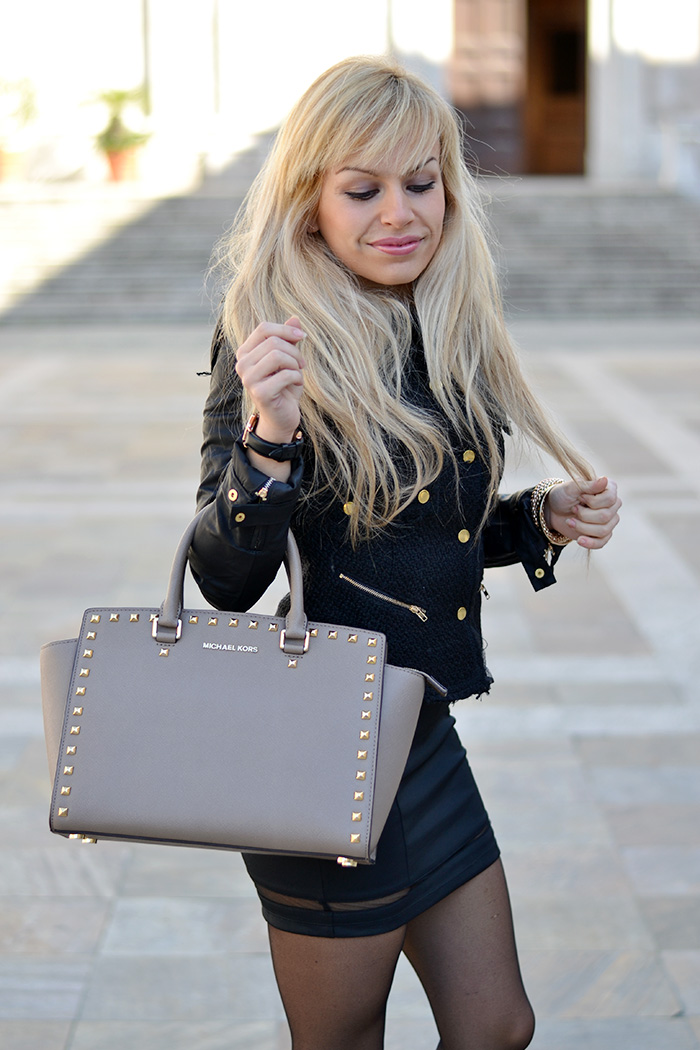 Alexoo shop fashion blogger – vestiti neri party dress little black dress – Selma bag Michael Kors – It-Girl by Eleonora Petrella