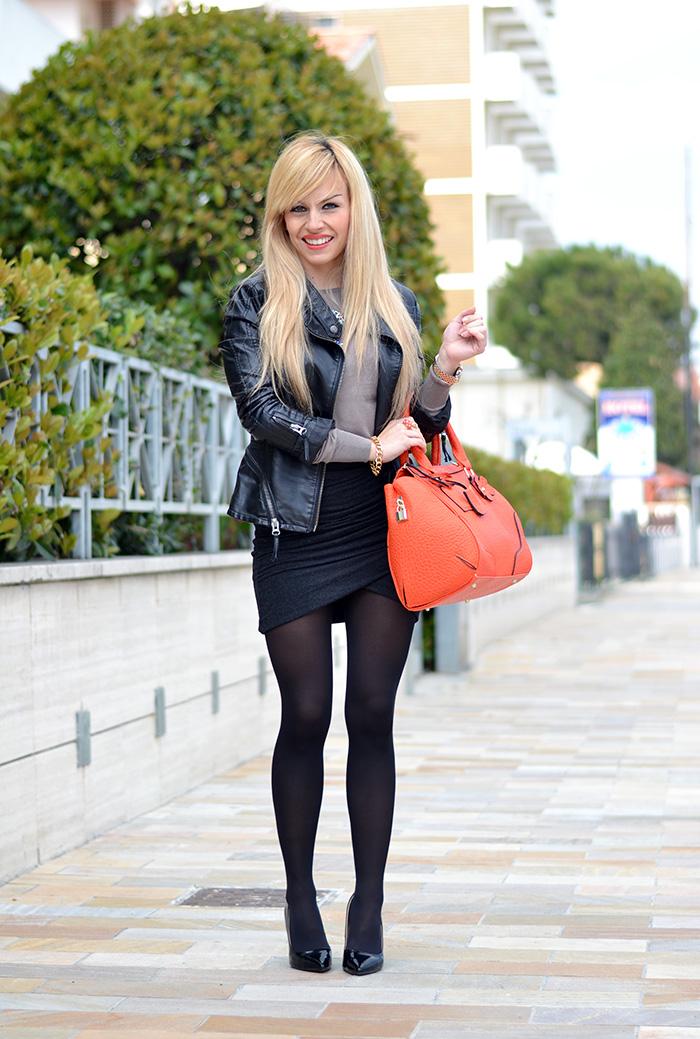 Sodini bijoux gioielli fashion blogger, Zara draped skirt stretch, collane Zara primavera estate 2014 – look It-Girl by Eleonora Petrella