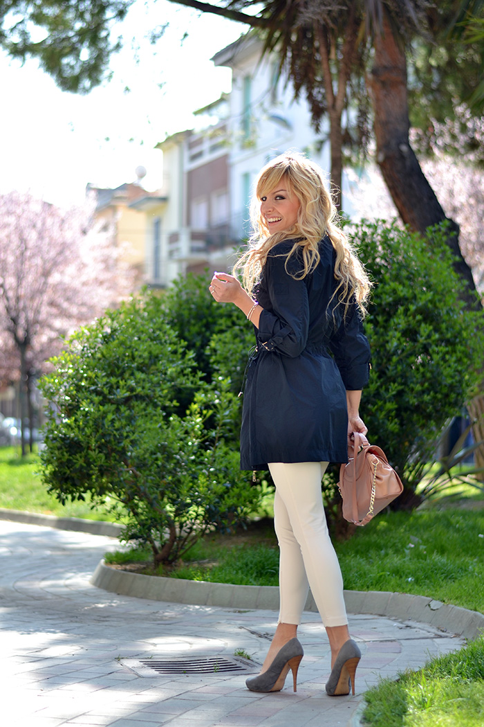 Trench spolverino parka primavera 2014 Giorgia&Johns, pantaloni bianchi elegant Elisabetta Franchi, See by Chloè bags – italian fashion blogger It-Girl by Eleonora Petrella