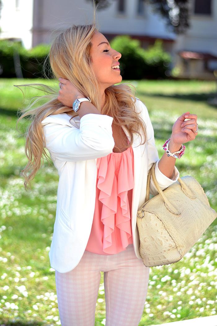 Zara leggings, H&M pink top, Furla borse primavera estate 2014, Didofà orologio, outfit italian fashion blogger It-Girl by Eleonora Petrella
