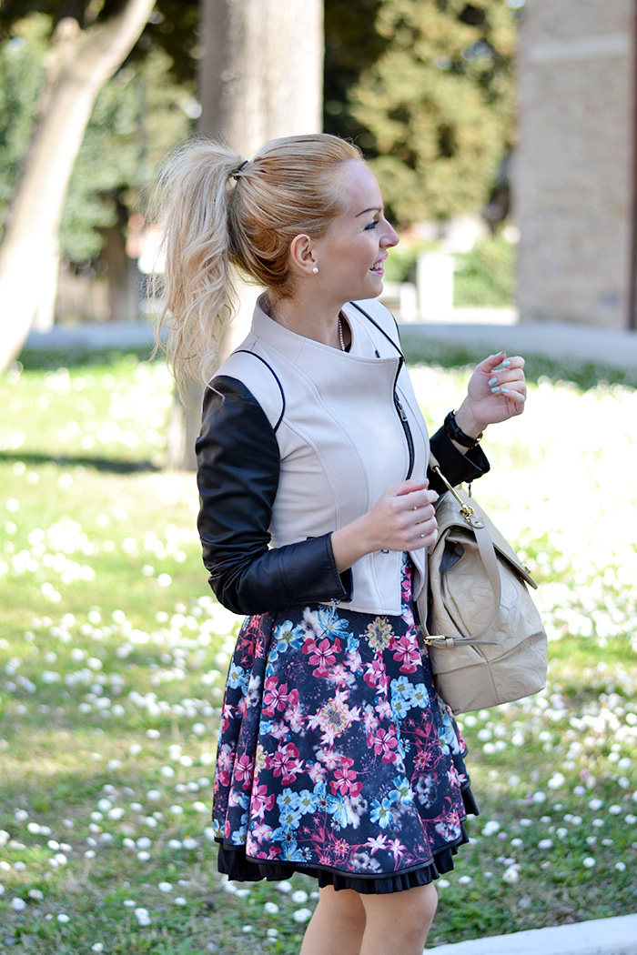 Braccialini borse primavera estate 2014, Giorgia&Johns vestiti, Zara nude pumps – outfit elegant chic Italian fashion blogger It-Girl by Eleonora Petrella spring 2014