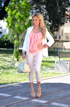 Zara leggings, H&M pink top, Furla borse primavera estate 2014, Didofà orologio, outfit italian fashion blogger It-Girl by Eleonora Petrella