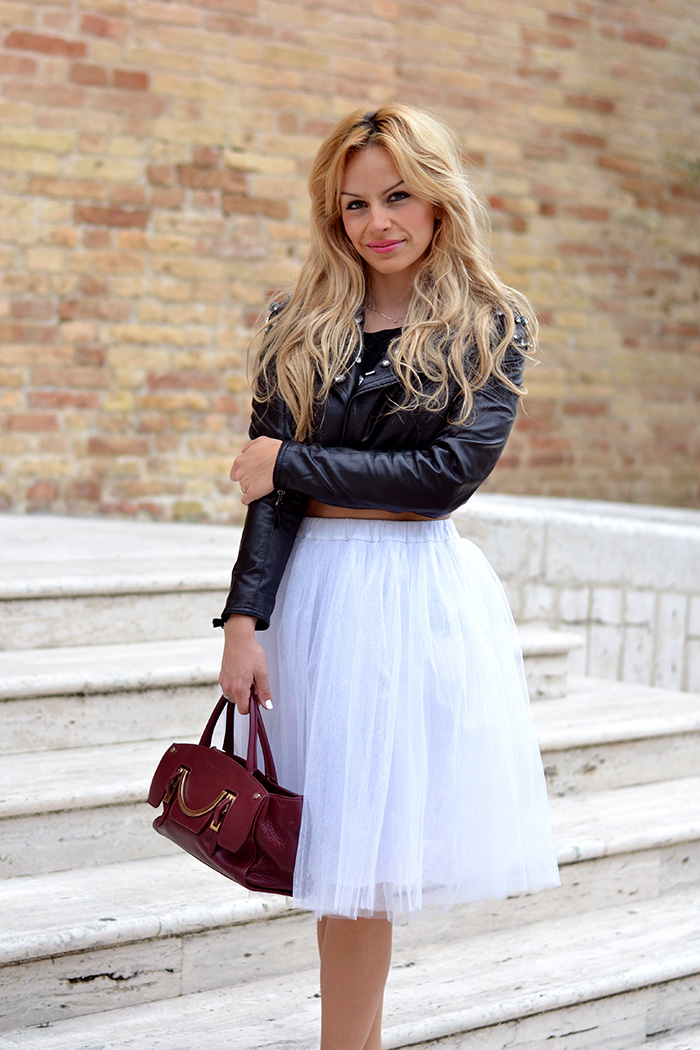 Gonna tutu tulle skirt, ballerina skirt, chiffon skirt, piùstyle shopping online – outfit spring 2014 italian fashion blogger It-Girl by Eleonora Petrella
