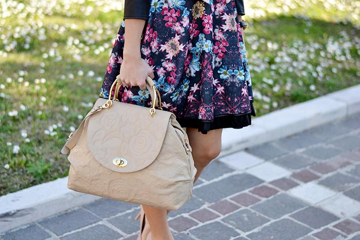 Braccialini borse primavera estate 2014, Giorgia&Johns vestiti, Zara nude pumps – outfit elegant chic Italian fashion blogger It-Girl by Eleonora Petrella spring 2014