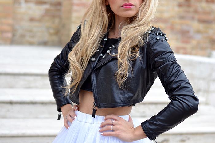 Gonna tutu tulle skirt, ballerina skirt, chiffon skirt, piùstyle shopping online – outfit spring 2014 italian fashion blogger It-Girl by Eleonora Petrella