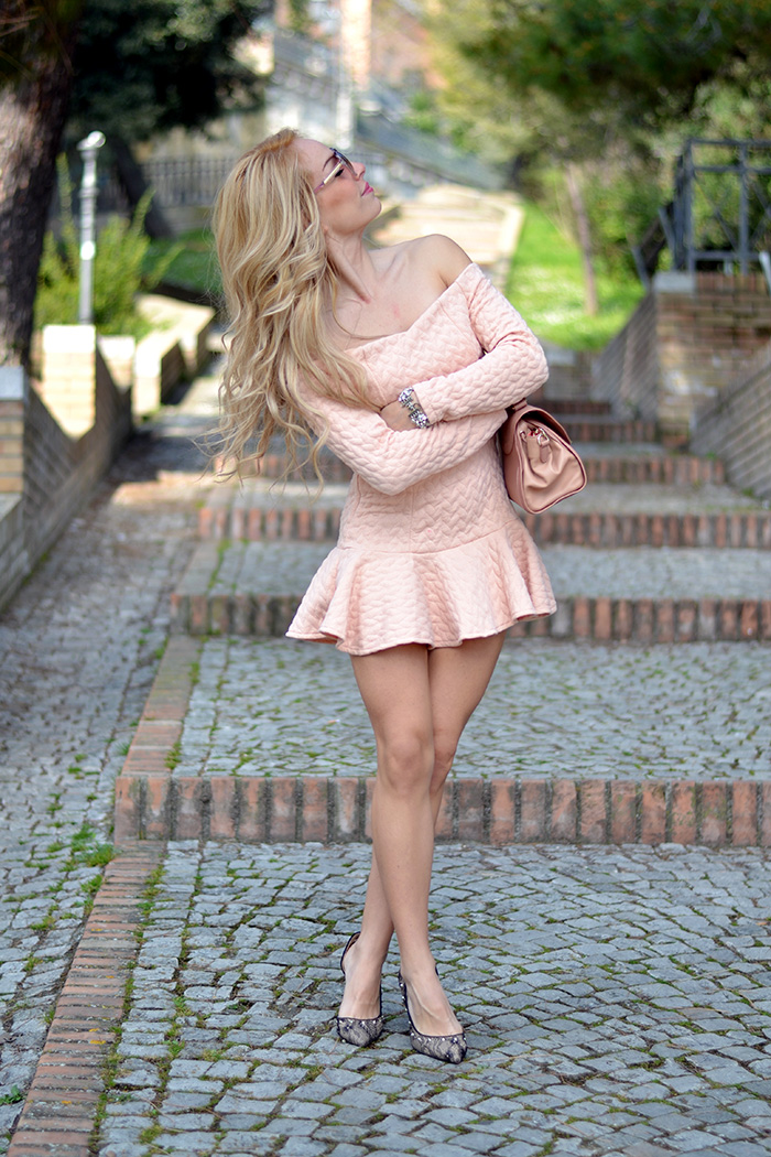Chicwish pink dress, Ottaviani bijoux gioielli, See by Chloè bag, outfit spring 2014 italian fashion blogger It-Girl by Eleonora Petrella