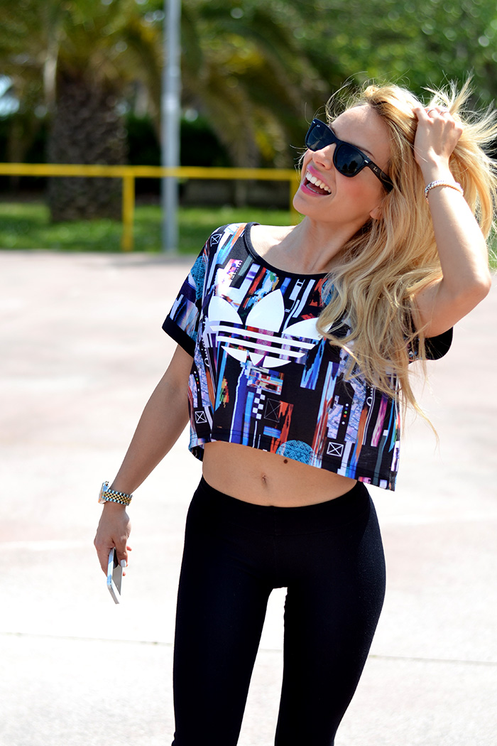 Hoodboyz shop, Adidas sneakers trend spring 2014, sportswear, crop top, outfit sporty italian fashion blogger It-Girl by Eleonora Petrella