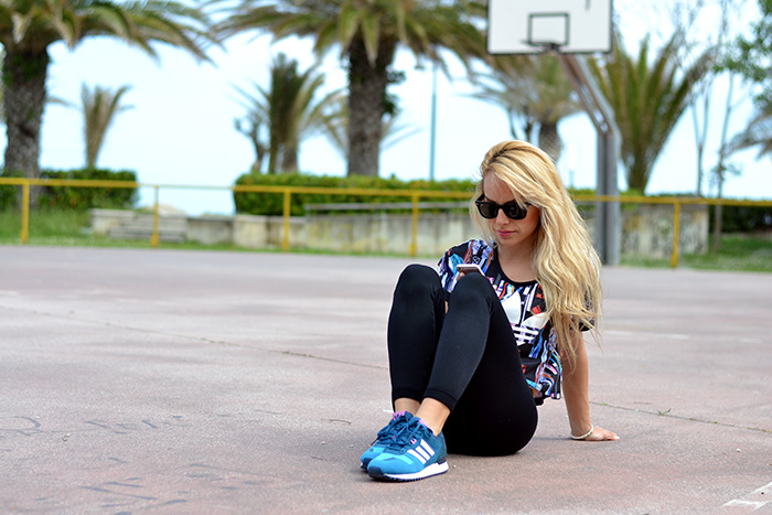 Hoodboyz shop, Adidas sneakers trend spring 2014, sportswear, crop top, outfit sporty italian fashion blogger It-Girl by Eleonora Petrella