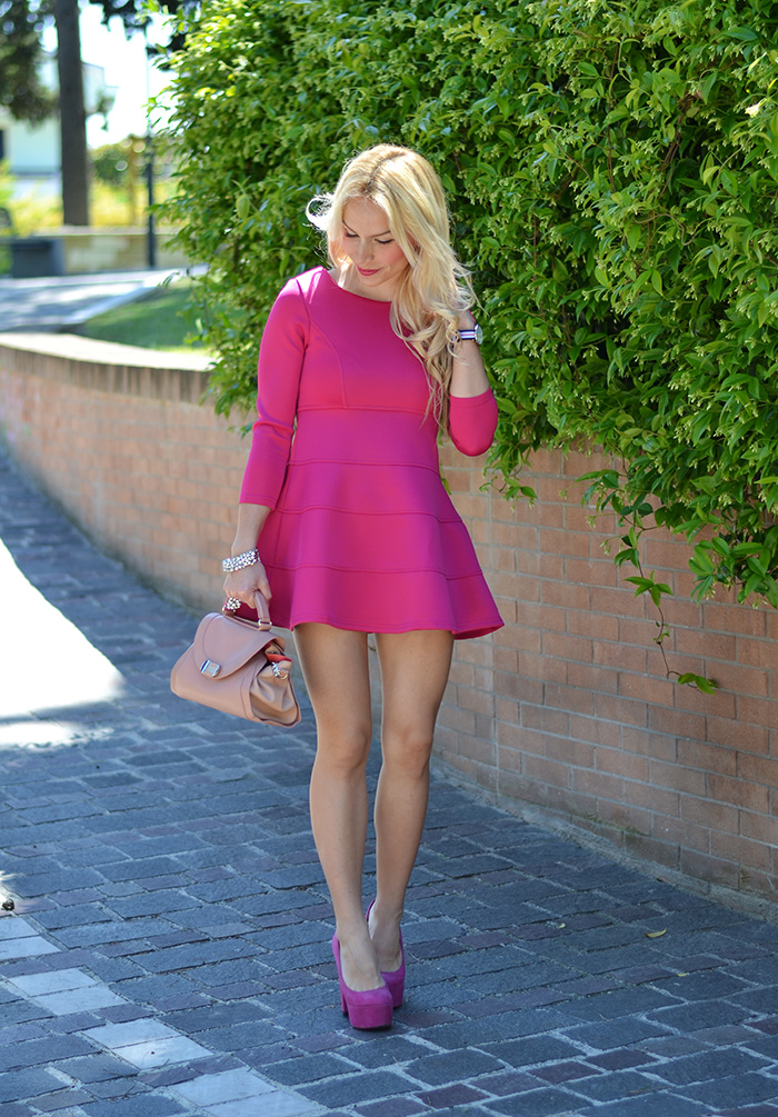 Sheinside dress, pink dress, elegant chic outfit, look for special occasion – Italian fashion blogger It-Girl by Eleonora Petrella