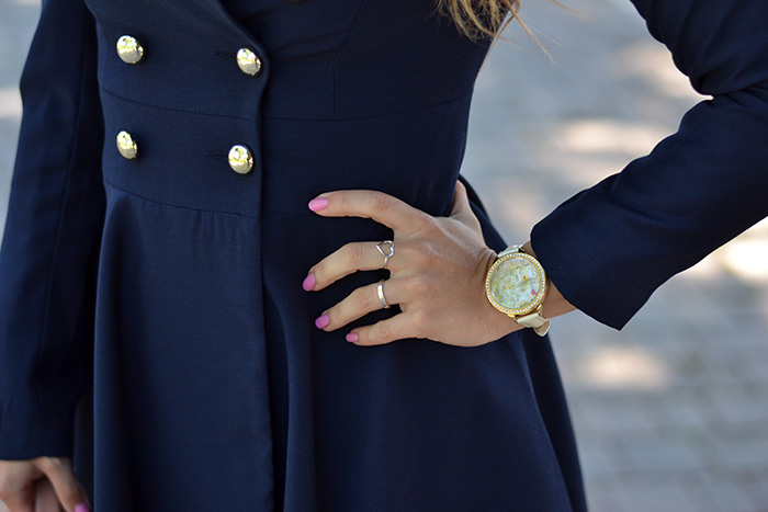 Didofà watch orologi, Gossip girl coat Sheinside, See by Chloè bags, outfit Blair Waldorf, italian fashion blogger It-Girl by Eleonora Petrella