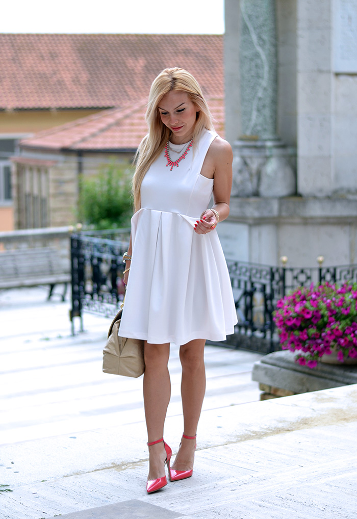 Sergio Levantesi shoes, tacchi in vernice, pumps, vestito bianco, white dress, outfit summer 2014 italian fashion blogger It-Girl by Eleonora Petrella