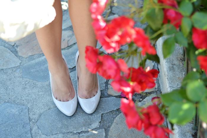 Zara white skort outfit ideas, Didofà orologi, scarpe tacchi Zara estate 2014, outfit italian fashion blogger It-girl by Eleonora Petrella