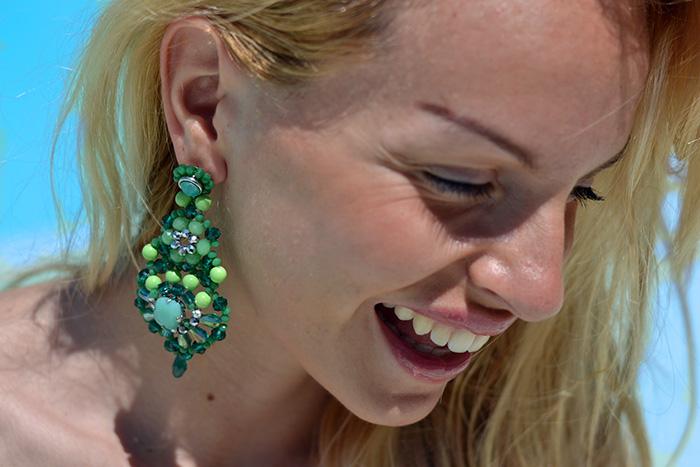 Goldenpoint costumi estate 2014, bikini Goldenpoint, costumi a fascia, costumi pizzo, orecchini Ottaviani - fashion blogger It-Girl by Eleonora Petrella