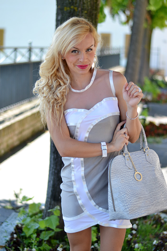 Sheinside bandage dress, Paviè bijoux orecchini personalizzati, outfit summer 2014 italian fashion blogger It-Girl by Eleonora Petrella