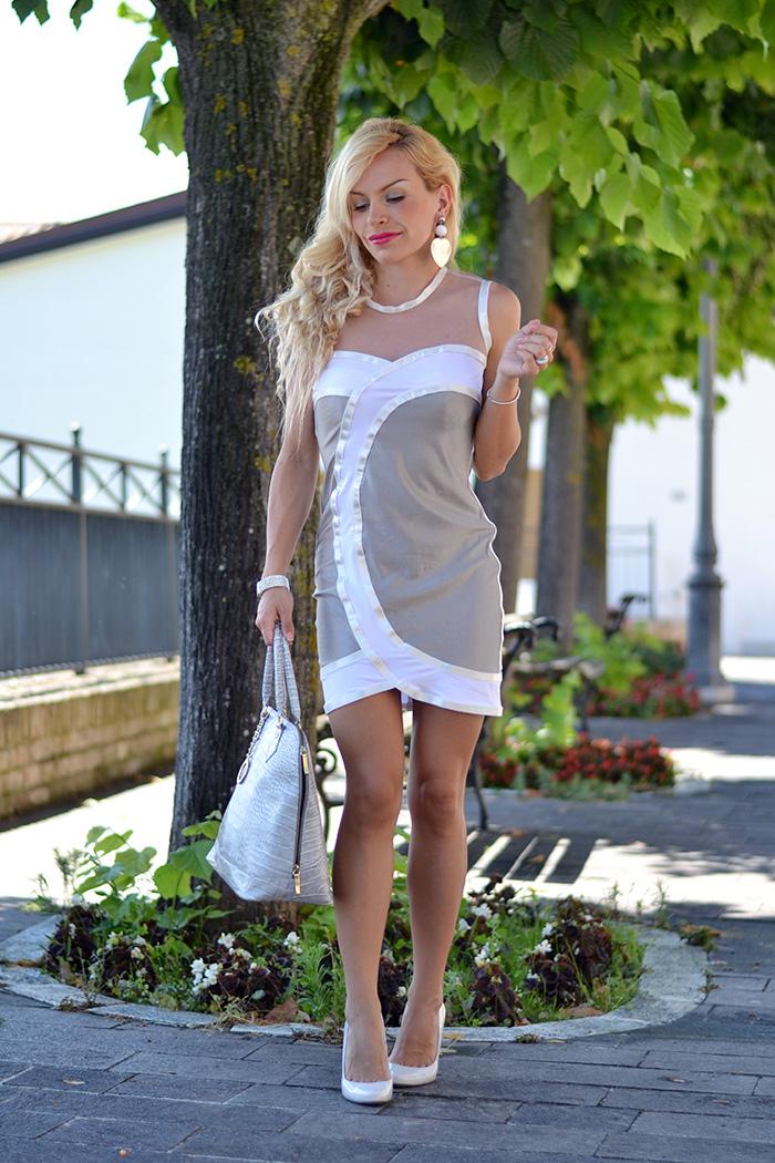 Sheinside bandage dress, Paviè bijoux orecchini personalizzati, outfit summer 2014 italian fashion blogger It-Girl by Eleonora Petrella