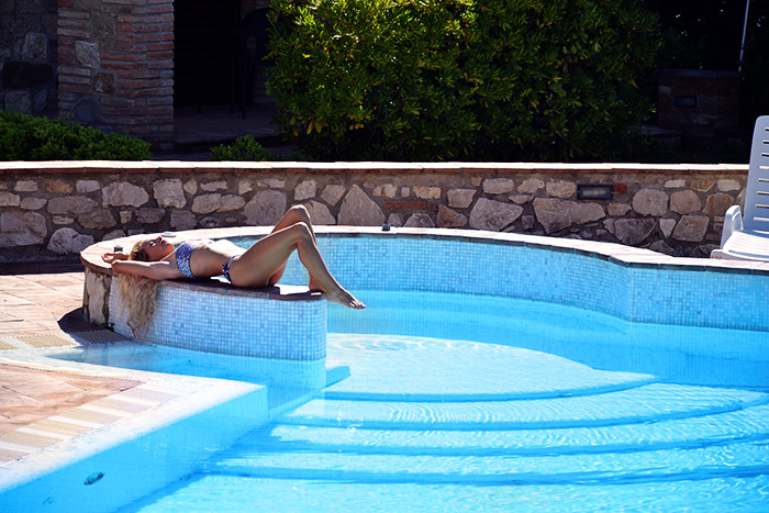 Centri benessere SPA Umbria Relais Il Canalicchio, luxury country house Italy Umbria, costumi I Love bikini beachwear - It-Girl by Eleonora Petrella