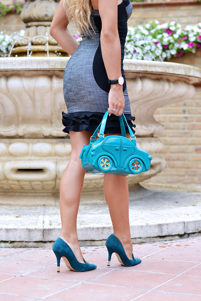 CarinaBag, Glam factory, Carina bag Braccialini borse, borsa macchinina Braccialini, fashion blogger italiane It-Girl by Eleonora Petrella, vestiti Guess dresses