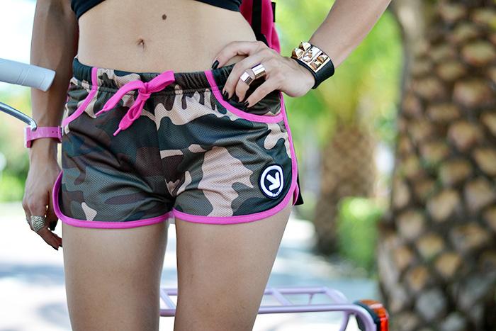 camouflage, Iaco Tortoreto, shorts summer 2014, crop top estate 2014, bicicletta rosa donna, It-Girl by Eleonora Petrella