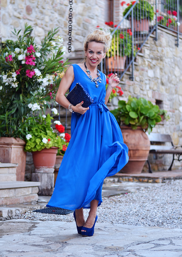 Relais Il Canalicchio resort centro benessere Umbria, luxury country house Umbria, long dress, maxi dress, vestiti lunghi estate 2014 - It-girl by Eleonora Petrella