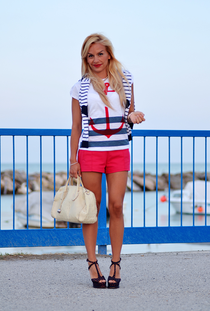 ancora t-shirt, Roimer, navy style, anchor tattoo, Zara shoes – outfit summer 2014 italian fashion blogger It-Girl by Eleonora Petrella
