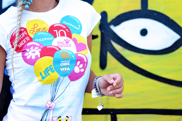 Happiness magliette, Happiness t-shirt, It's time for a Love Revolution, Pink Panther Trenta ore per la vita, progetto charity