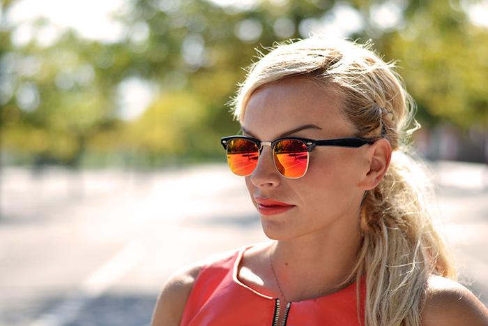 Ventifive negozio abbigliamento shop, peplum top, draped skirt, Zero UV sunglasses italia occhiali recensioni – outfit italian fashion blogger It-Girl by Eleonora Petrella