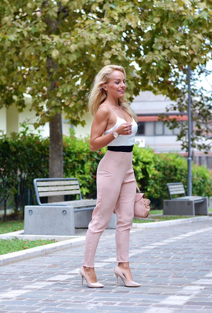 Sheinside pastel jumpsuit, monos trend, Steve Madden heels, Chloè bags - outfit Italian fashion blogger It-Girl by Eleonora Petrella