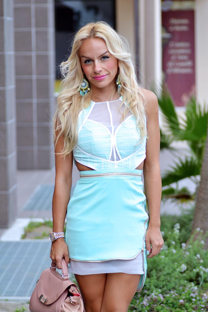 Sheinside fashion mint dress, Steve Madden heels, See by Chloè bag - outfit italian fashion blogger It-Girl by Eleonora Petrella