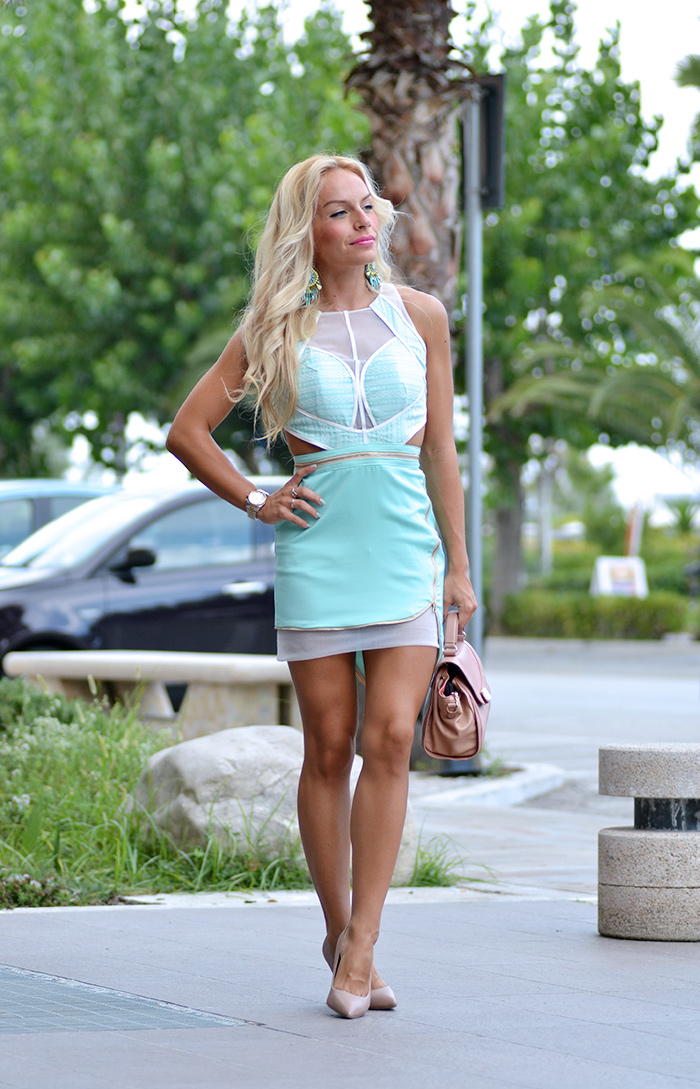 Sheinside fashion mint dress, Steve Madden heels, See by Chloè bag - outfit italian fashion blogger It-Girl by Eleonora Petrella