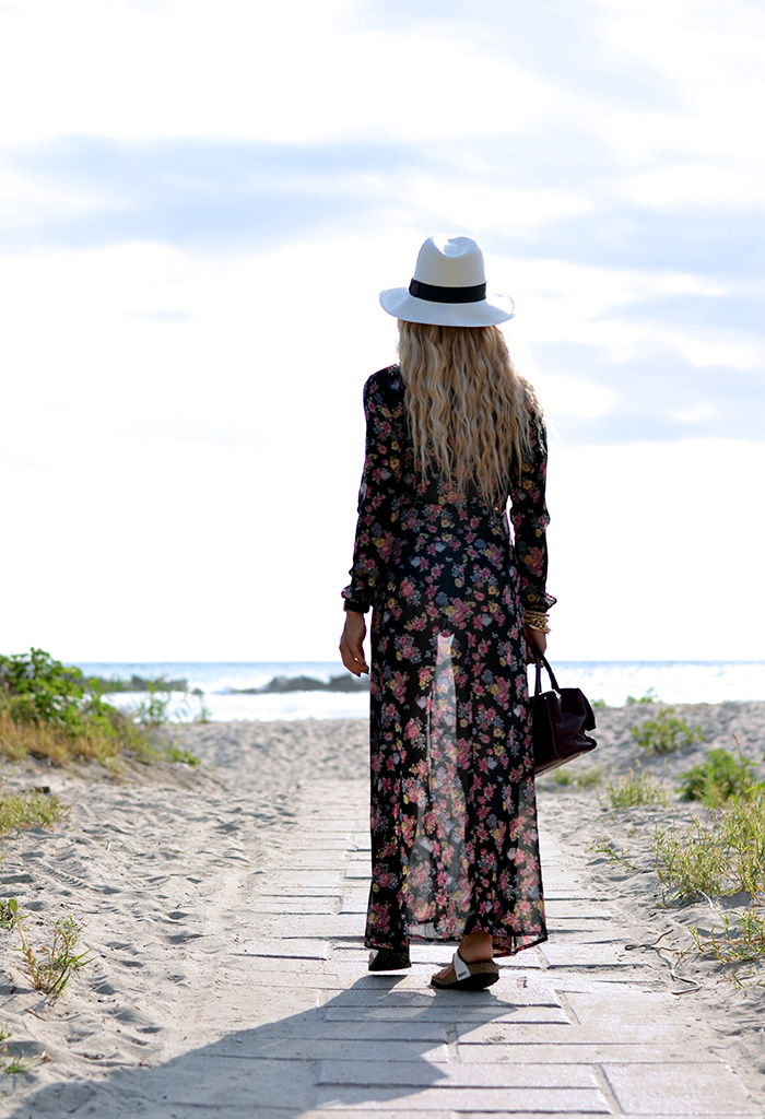 Panama, Borsalino panama, Headict, floral boho maxi dresses, outfit summer 2014 italian Fashion blogger It-Girl by Eleonora Petrella